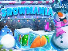 Snowmania Slot game logo with happy snowman